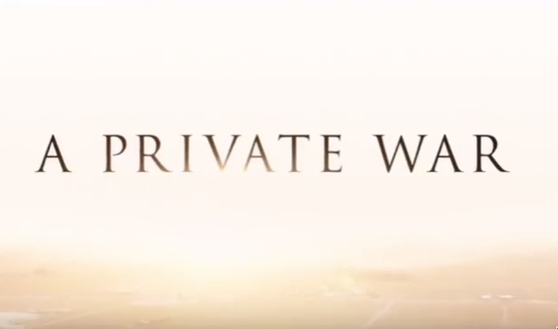 A Private War stars Rosamund Pike, Jamie Dornan, Stanley Tucci, Tom Hollander, Alexandra Moen, Corey Johnson, Raad Rawi, Hilton McRae, Jérémie Laheurte, and Fady Elsayed.
