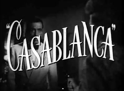 Casablanca movie trailer Bogart Bergman