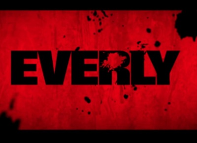 Everly starring Salma Hayek, Jennifer Blanc, Togo Igawa, Caroline Chikezie, and Gabriella Wright.