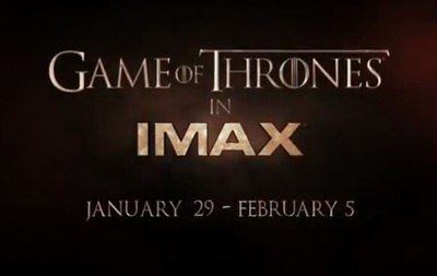 Game of Thrones in IMAX