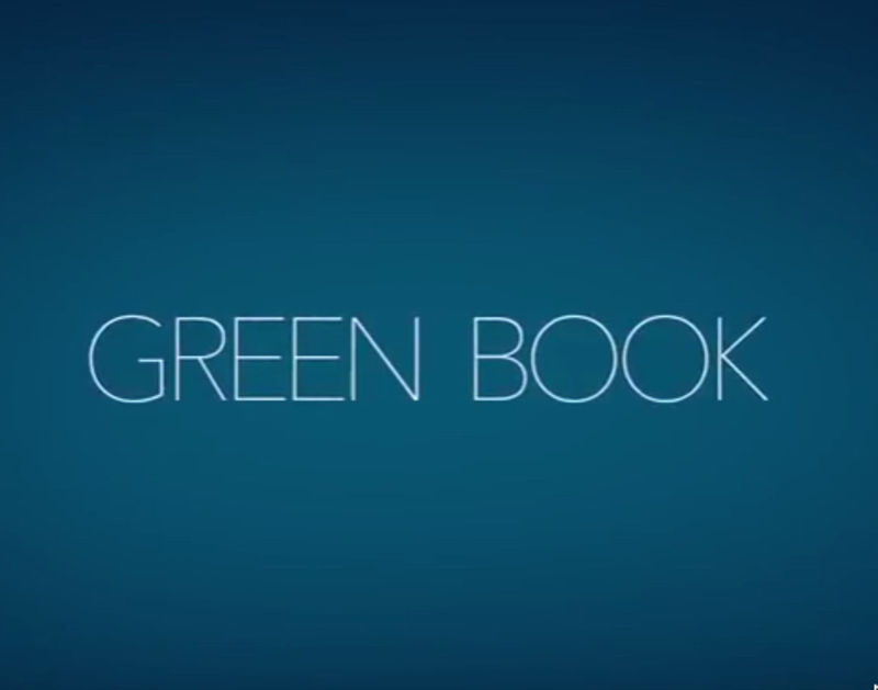 Green Book starring Mahershala Ali, Viggo Mortensen, Linda Cardellini, Don Stark, P.J. Byrne, Brian Stepanek, Sebastian Maniscalco, Iqbal Theba, and Tom Virtue.