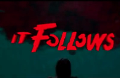 It Follows starring Maika Monroe, Olivia Luccardi, Lili Sepe, Keir Gilchrist, Caitlin Burt, Jake Weary, and Daniel Zovatto.