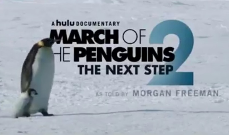 March of the Penguins 2 The Next Step is narrated by Morgan Freeman  - Movie Trailer: March of the Penguins 2 The Next Step