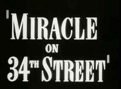 Miracle 34th Street movie trailer Christmas