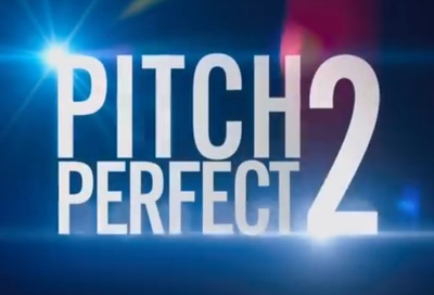 Pitch Perfect 2 starring Anna Kendrick, Elizabeth Banks, Hailee Steinfeld, Alexis Knapp, Rebel Wilson, Brittany Snow, Anna Camp, and Katey Sagal.