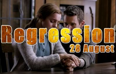 Regression movie trailer Watson Hawke thriller