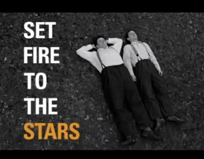 Set Fire to the Stars starring Elijah Wood, Celyn Jones, Kelly Reilly, Steven Mackintosh, Shirley Henderson, and Kevin Eldon.