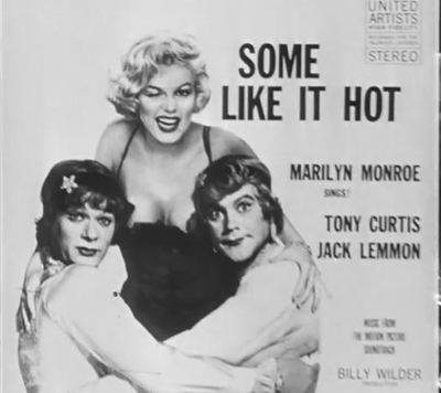 Some Like it Hot Monroe Curtis Lemmon