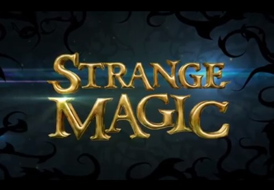 Strange Magic starring Evan Rachel Wood, Alan Cumming, Maya Rudolph, Kristin Chenoweth, Peter Stormare, Alfred Molina, Sam Palladio, Bob Einstein, Elijah Kelley, Llou Johnson, and Meredith Anne Bull.