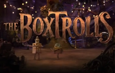 The Boxtrolls starring Isaac Hempstead Wright, Elle Fanning, Ben Kingsley, Jared Harris, Nick Frost, Richard Ayoade, and Tracy Morgan