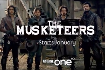 The Musketeers season 1 starring Luke Pasqualino, Tom Burke, Santiago Cabrera, Howard Charles, Ryan Gage, Hugo Speer, Tamla Kari, Alexandra Dowling, Maimie McCoy, and Peter Capaldi.