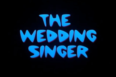 The Wedding Singer starring Adam Sandler, Drew Barrymore, Christine Taylor, Matthew Glave, Allen Covert, Ellen Albertini Dow, Angela Featherstone and Christina Pickles
