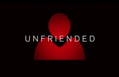 Unfriended starring Matthew Bohrer, Courtney Halverson, Renee Olstead, Will Peltz, Heather Sossaman, Moses Jacob Storm, and Jacob Wysocki.