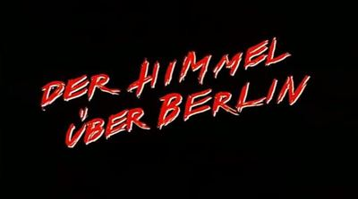 Wings of Desire Der Himmel über Berlin movie trailer Wim Wenders