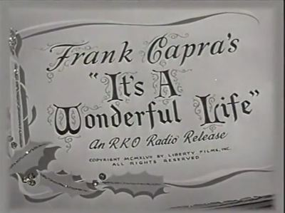 Wonderful Life movie trailer classic James Stewart Frank Capra Christmas